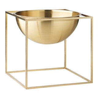 Kubus Large Brass Bowl For Sale