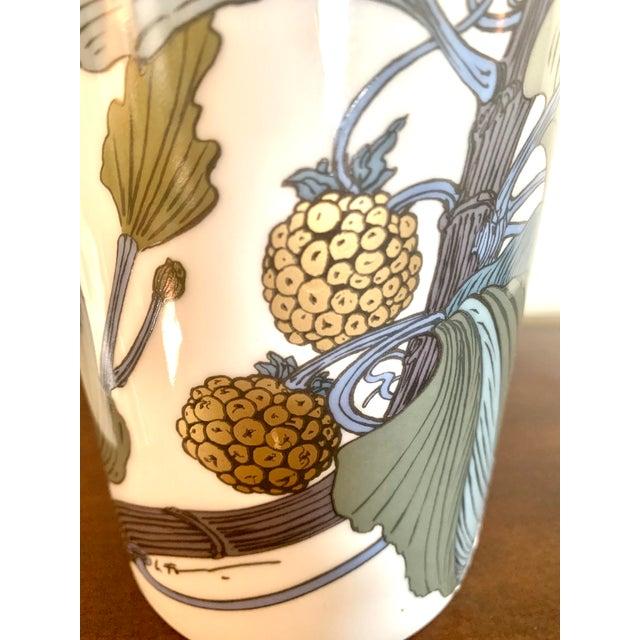 Gold Rosenthal Germany Studio Line Large Gilt Botanical Vase For Sale - Image 8 of 10