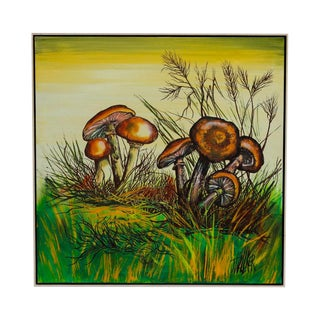 J. Walker Mushrooms Painting For Sale