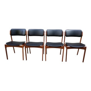 Mid Century Erick Buck Model #49 Chairs for o.d. Mobler-Set of 4 For Sale