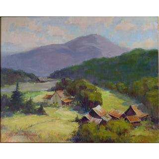 Rene Weaver Bucolic Landscape Oil Painting For Sale
