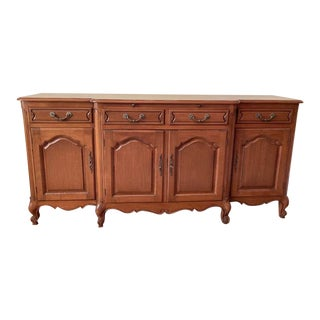 French Provincial Mid Century Serving and Storage Credenza For Sale