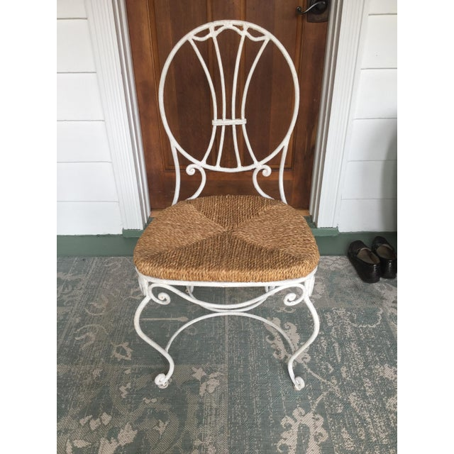 1950s 1950s French Country Wrought Iron Dining Set - 5 Pieces For Sale - Image 5 of 10