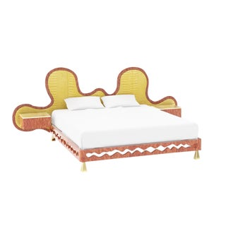 Wave Bed by Artist Troy Smith - Contemporary Design - Very Limited Edition - Handmade Furniture For Sale