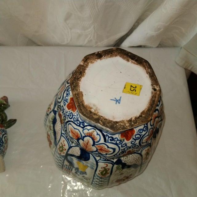 Ceramic Delft Lidded Ginger Jar For Sale - Image 7 of 12