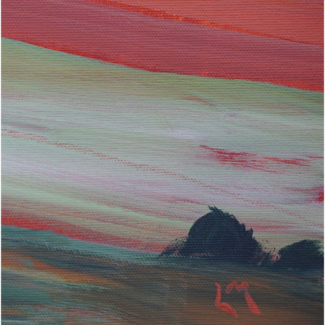 "2020s ""Roadside Attraction"" Contemporary Abstract Acrylic Landscape by Laurie MacMillan, Framed For Sale - Image 5 of 6"