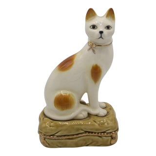 Vintage Cat Figurine Bookend For Sale