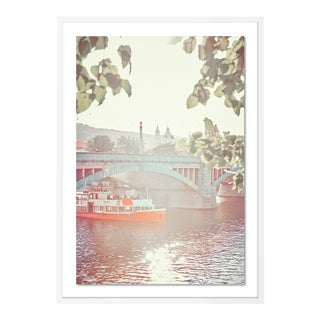 Vitava River Cruise by HULETT, Contemporary Photograph in White, Large For Sale