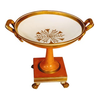 Mottahedah Italian Footed Compote Bowl For Sale