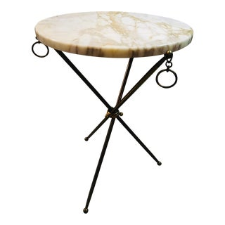 Geo Ponti Marble Top Side Table For Sale