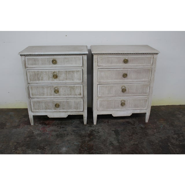 20th Century Vintage Swedish Gustavian Style Nightstands-A Pair For Sale - Image 11 of 11