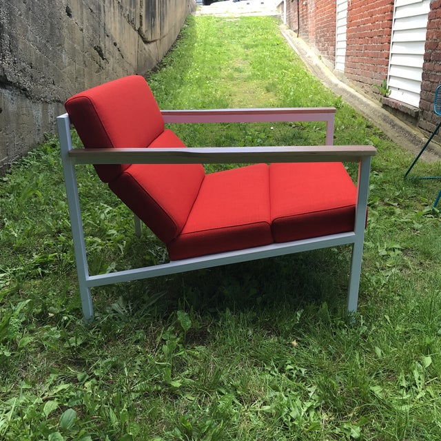 Contemporary Gus Modern Halifax Chair Upholstered in Red For Sale - Image 3 of 11