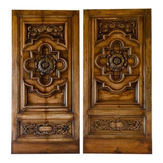 17th Century Wood Panel Doors - a Pair For Sale