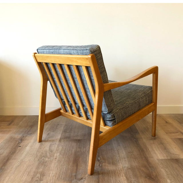 Folke Ohlsson for Dux - Danish MCM Arm Chair With Ottoman For Sale In Seattle - Image 6 of 12