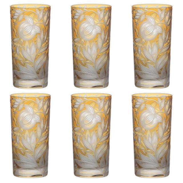 Artel Verdure Highball Glasses, Set of 6, Amber For Sale - Image 4 of 4