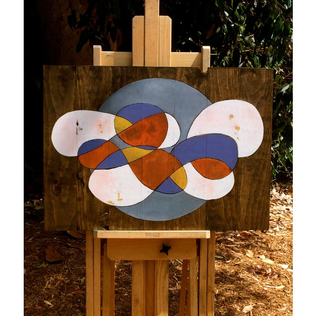 Contemporary Abstract Stained Wood - Image 3 of 3