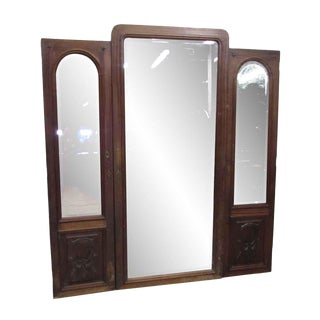 Beveled Mirror Armoire Doors - Set of 3