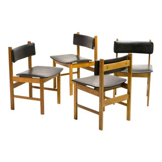 H.P. Hansen Set of Four Danish Architectural Dining Chairs For Sale