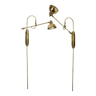 1970s Vintage Articulating Brass Wall Lights - A Pair For Sale