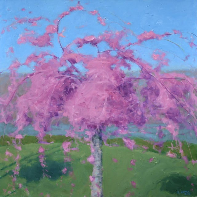 Weeping Cherry Tree Painting by Stephen Remick For Sale - Image 11 of 11