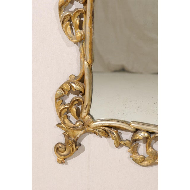 Early 20th Century Italian Gold and Silver Gilt Mirror For Sale - Image 10 of 11