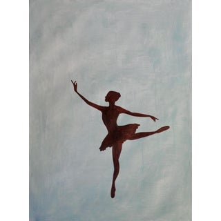 """""""Ballet Pose Lll"""" Contemporary Minimalist Figurative Mixed-Media Painting For Sale"""