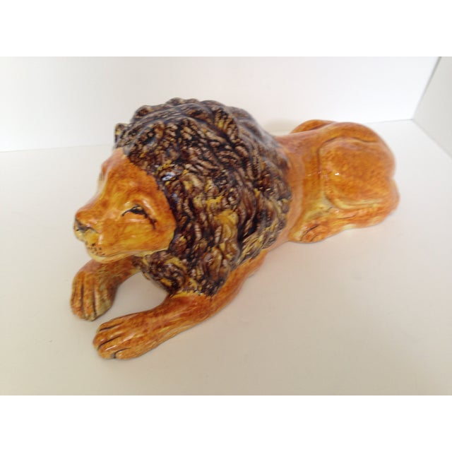 Italian Ceramic Lion - Image 3 of 7