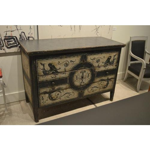 Antique Chest With New Paint From Spain For Sale - Image 13 of 13