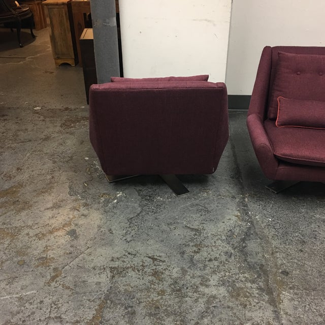 Vioski Palm II Swivel Chairs - A Pair For Sale - Image 5 of 8