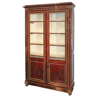 Outstanding 19th Century French Cuban Mahogany Cabinet For Sale