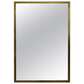 French Mid-Century Gold Leaf Mirror After Jean Michel Frank For Sale