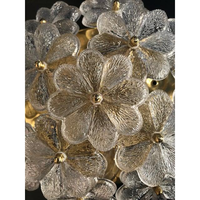 1960s 1960s Hollywood Regency Ernst Palme Floral Glass Sconce For Sale - Image 5 of 10