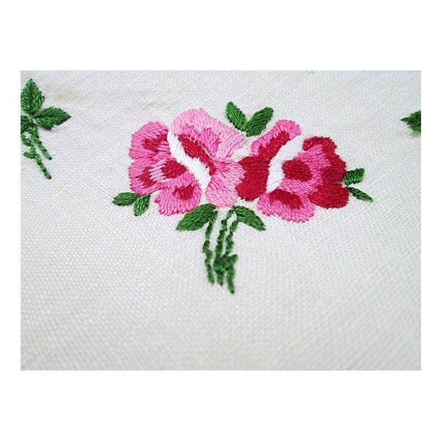 Hand-Embroidered Table Square - Image 3 of 6