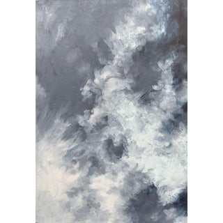 "Christine Elise ""As the Night Falls"" Contemporary Cloud and Sky Oil Painting For Sale"