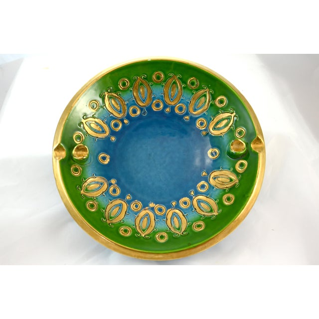 Aqua Bitossi Bowl by Aldo Londi, 1960s For Sale In Chicago - Image 6 of 6