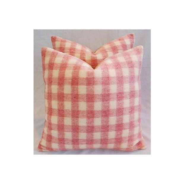 Custom Scottish Plaid Virgin Wool Pillows - A Pair - Image 4 of 8