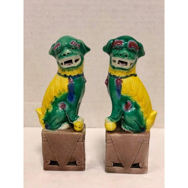 Vintage Foo Dog Figurines A Pair Chairish