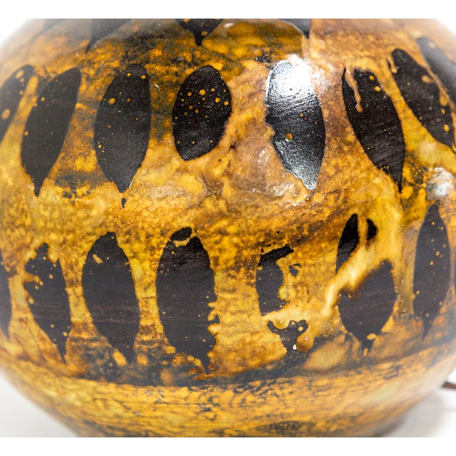 Contemporary Petite Spotted Glaze Gourd Lamp For Sale - Image 3 of 7