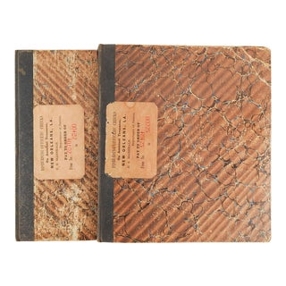 1890's New Orleans Us Marshalls Office Check Books - a Pair For Sale