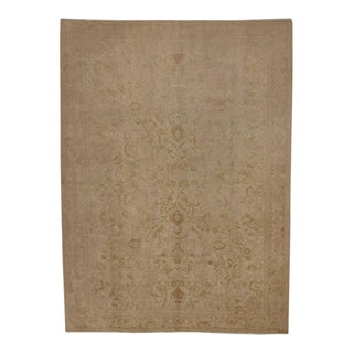 Vintage Turkish Oushak Rug with Minimalist Appeal in Soft Muted Colors