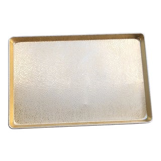 Faux Croc Shiny Gold Serving Tray For Sale