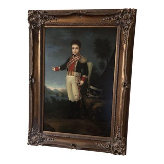 Vintage Federal Style Portrait Oil Painting Print For Sale
