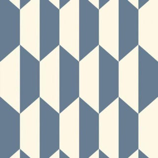 Cole & Son Tile Wallpaper Roll - Blue And White For Sale