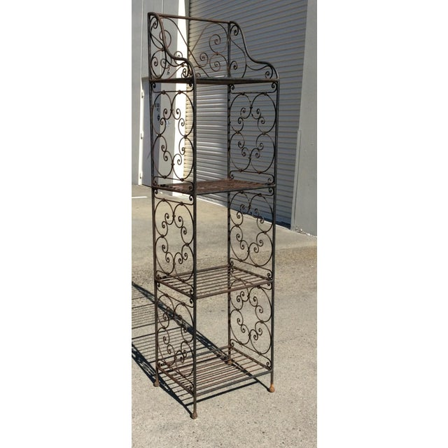 Brown Scrolling Iron Etagere For Sale - Image 8 of 11