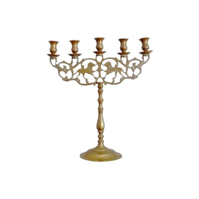 Vintage Brass Five Arm Candelabra - Image 1 of 7