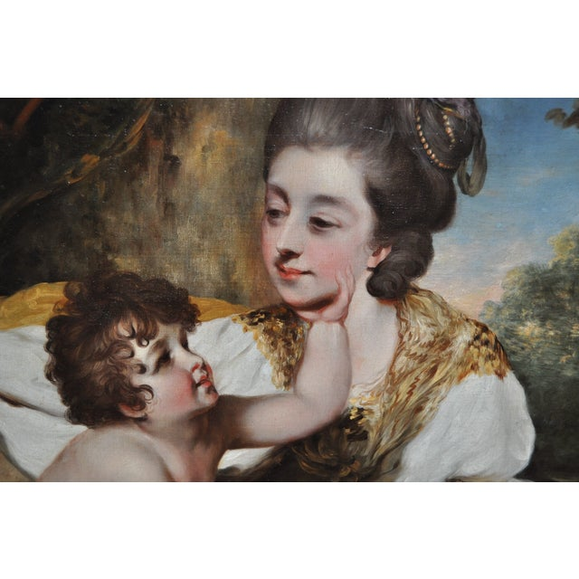 19th Century Mother & Child Oil Painting - Image 4 of 7