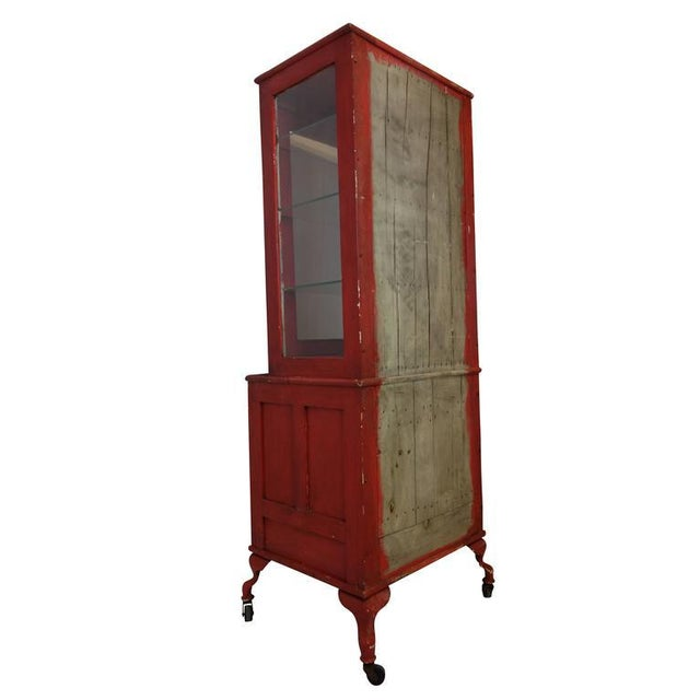 Red Painted Medical Cabinet For Sale In Seattle - Image 6 of 8