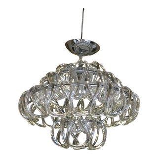 1980s Mid-Century Modern Style Mini Giogali Crystal Chandelier For Sale