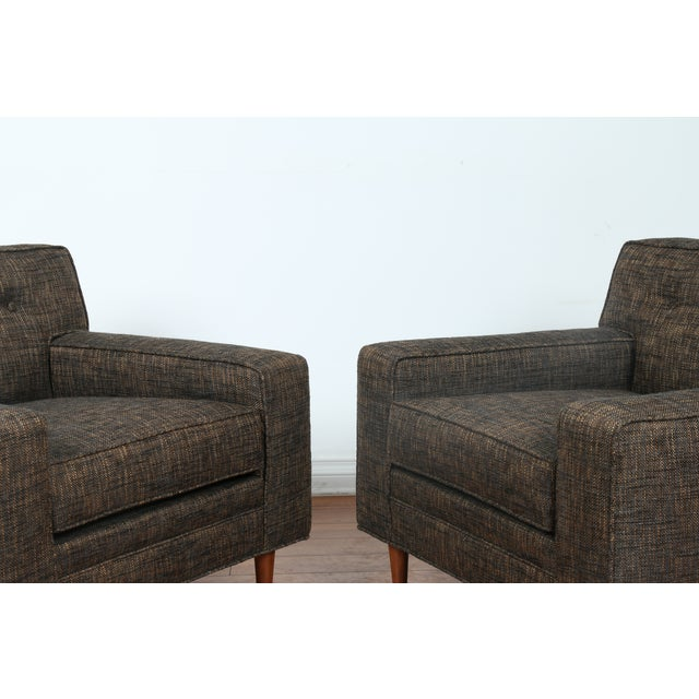 Gray Cubed Lounge Chairs- A Pair - Image 9 of 10