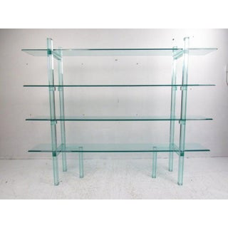Contemporary Modern Freestanding Glass Bookcase or Étagère Preview